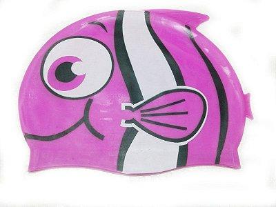 Touca de natação infantil - Peixinho Rosa