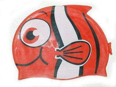 Touca de natação infantil - Peixinho Vermelho