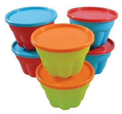 Conjunto de 6 potes para gelatina FISHER PRICE