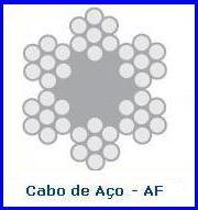 CABO DE AÇO ALMA DE FIBRA