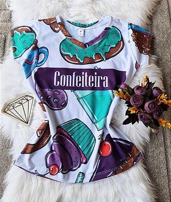 T shirt Feminina Profissão no Atacado Confeiteira Cupcake