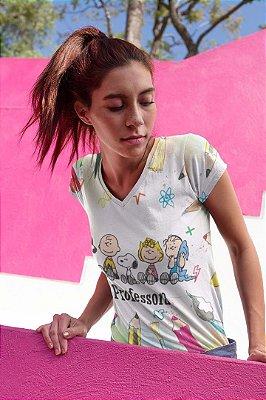 T shirt Feminina Profissão no Atacado Professora turma do Snoopy
