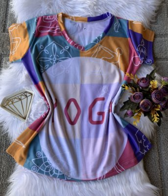 T shirt Feminina Profissão no Atacado Yoga