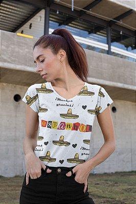 T shirt Feminina Profissão no Atacado Professora de Espanhol