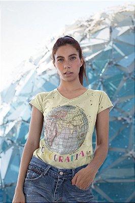 T shirt Feminina Profissão no Atacado Professora de Geografia