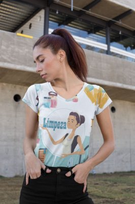 T shirt Feminina Profissão no Atacado Limpeza