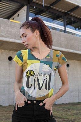 T shirt Feminina Profissão no Atacado Engenharia Civil