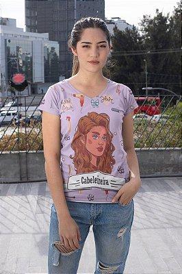 T shirt Feminina Profissão no Atacado Cabeleireira elementos