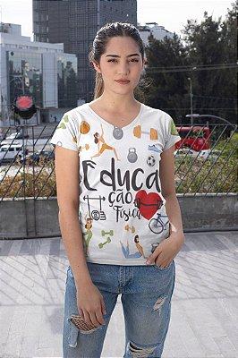 T shirt Feminina Profissão no Atacado elementos Educação Física
