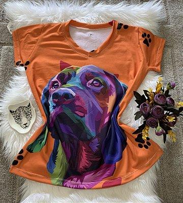 Blusa Feminina Estampa Animal no Atacado Dog Colorido