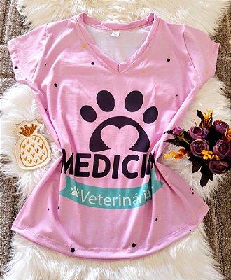 T shirt Feminina Profissão no Atacado Medicina Veterinária pata
