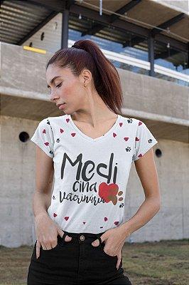 T shirt Feminina Profissão no Atacado Medicina veterinária corações