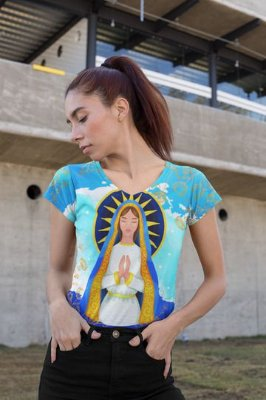 T shirt Feminina Religiosa no Atacado Nossa Senhora