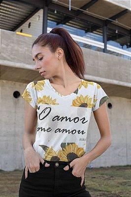 T shirt Feminina Religiosa no Atacado O Amor me Amou