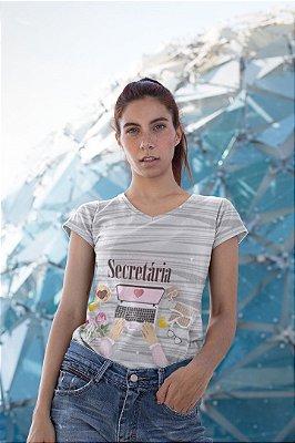 T shirt Feminina Profissão no Atacado Secretária