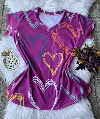 Blusa Feminina no Atacado Corações Coloridos