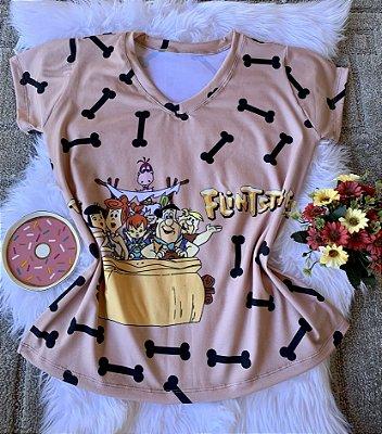 Camiseta Feminina Personagem No Atacado Flintstones
