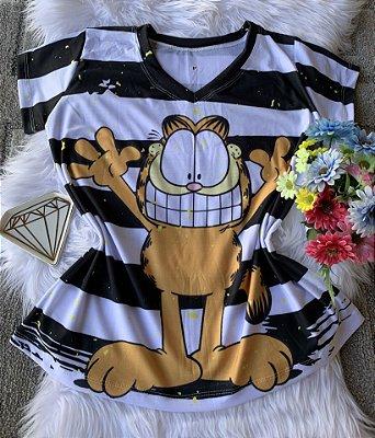 Camiseta Feminina Personagem No Atacado Garfield