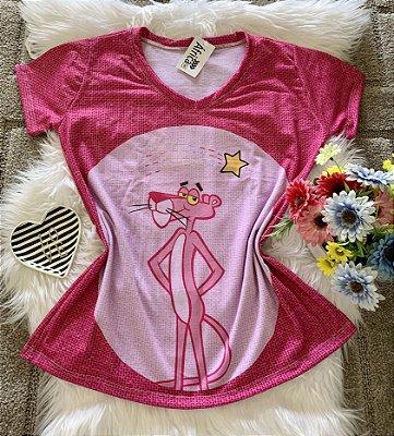 Camiseta Feminina Personagem No Atacado Pantera Cor de Rosa