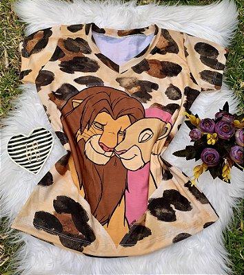 Camiseta Feminina Personagem No Atacado Rei Leão