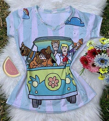 Camiseta Feminina Personagem No Atacado Scooby Doo Turma