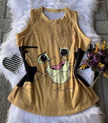 Camiseta Feminina Personagem No Atacado Simba