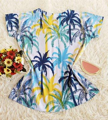 Camiseta Feminina Floral no Atacado Coqueiros