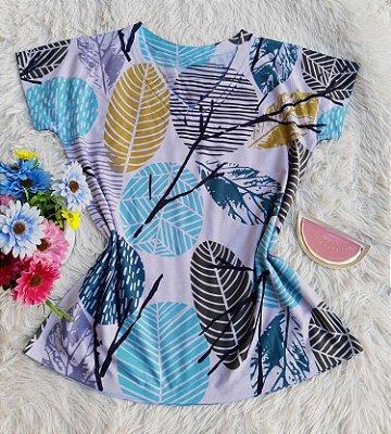 Camiseta Feminina Floral no Atacado Folhas e Galhos