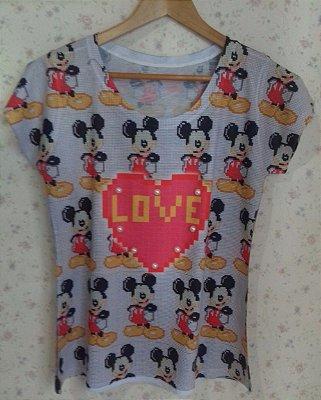 Tee Feminina no Atacado Mickey Love
