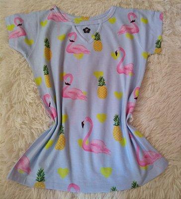 Blusinha Feminina no Atacado Flamingos e Abacaxis