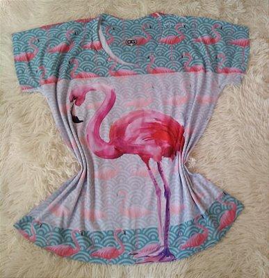 Tee Feminina no Atacado Flamingo Grande