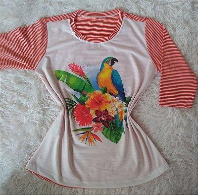 Blusa Feminina no Atacado Papagaio Flores