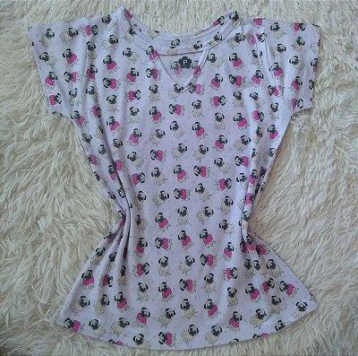 T Shirt Feminina Para Revenda Pugs Pequenos