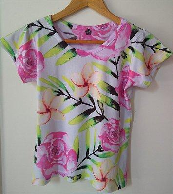 T shirt Feminina no Atacado Plantas e Flores