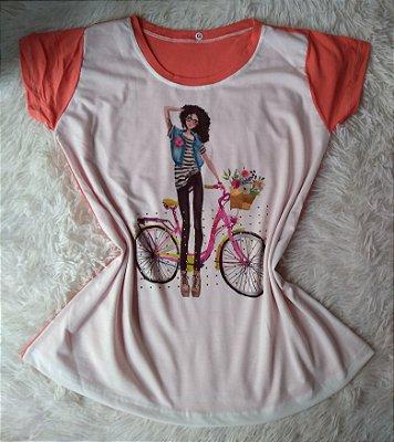Blusa Feminina no Atacado Girl Bike
