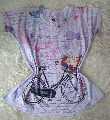 Blusinha Feminina no Atacado Bike Fundo Frases