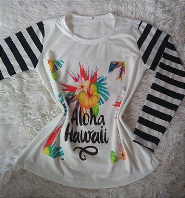 T Shirt Feminina no Atacado Aloha Hawaii