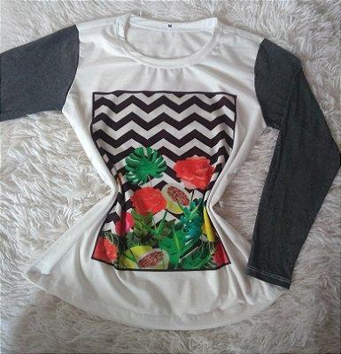 T-Shirt Feminina Para Revenda Frutas Flores e Plantas