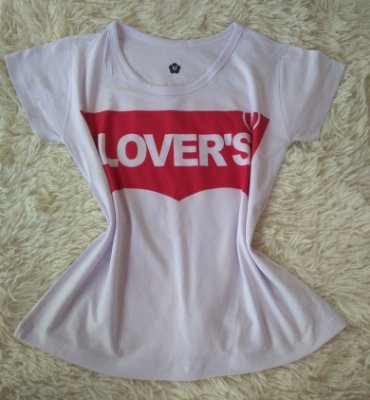 T-Shirt Feminina no Atacado Lovers