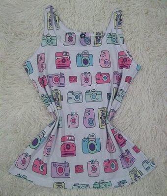 Camiseta Feminina Para Revenda Câmeras Coloridas