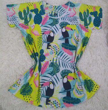 Blusa Feminina Para Revenda Tucanos e Flamingos