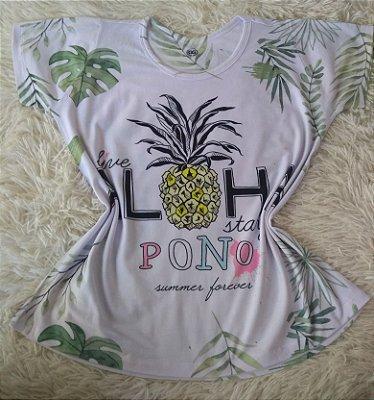 Tee Feminina Para Revenda Aloha Abacaxi