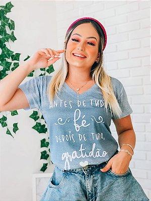 T-Shirt no Atacado Fé e Gratidão