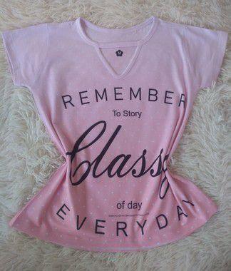 T-Shirt Feminina para Revenda Remember