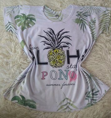 T-Shirt Feminina Atacado Aloha Abacaxi