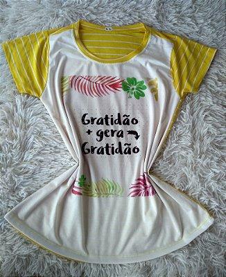 Blusinha Feminina no Atacado Gratidão Gera Gratidão