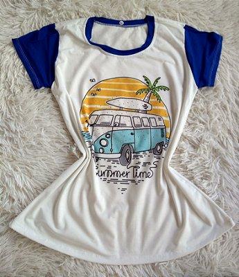 T Shirt Feminina Para Revenda Kombi Surf Summer