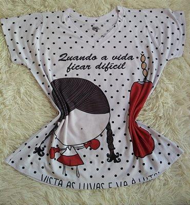 T-Shirt Feminina no Atacado Boneca Luta