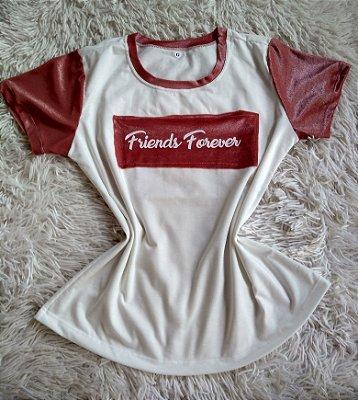 T-Shirt Feminina no Atacado Friends Forever
