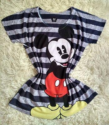 T shirt Feminina no Atacado Mickey Listras
